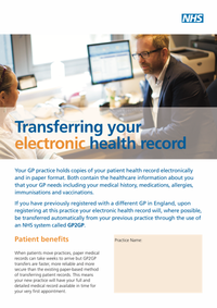 Transferring Your Electronic Health Record (GP2GP)