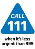 Call NHS 111 when it is less urgent than 999